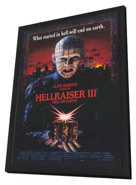 Hellraiser 3: Hell on Earth - 11 x 17 Movie Poster - Style B - in Deluxe Wood Frame