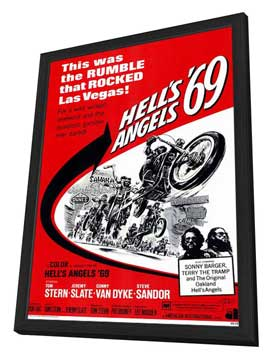 Hell's Angels '69 - 11 x 17 Movie Poster - Style A - in Deluxe Wood Frame