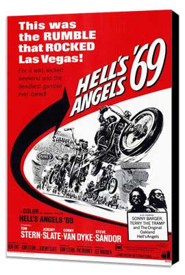 Hell's Angels '69 - 11 x 17 Movie Poster - Style A - Museum Wrapped Canvas