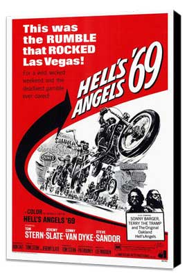 Hell's Angels '69 - 27 x 40 Movie Poster - Style A - Museum Wrapped Canvas