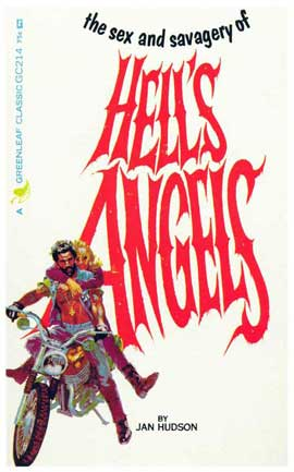 Hell's Angels - 11 x 17 Retro Book Cover Poster
