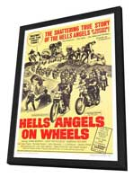 Hell's Angels on Wheels - 27 x 40 Movie Poster - Style C - in Deluxe Wood Frame