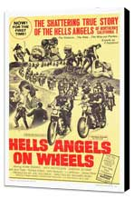 Hell's Angels on Wheels - 27 x 40 Movie Poster - Style C - Museum Wrapped Canvas