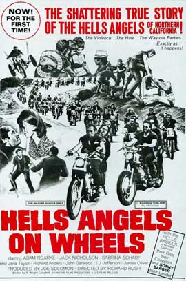 Hell's Angels on Wheels - 11 x 17 Movie Poster - Style B