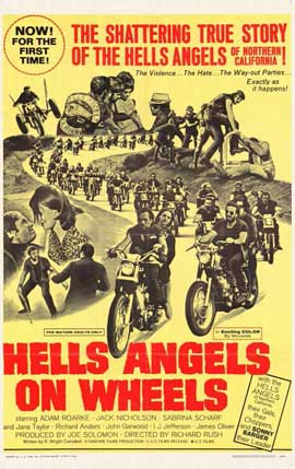 Hell's Angels on Wheels - 11 x 17 Movie Poster - Style D