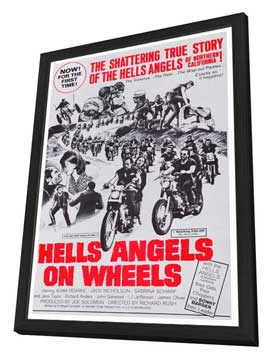 Hell's Angels on Wheels - 27 x 40 Movie Poster - Style A - in Deluxe Wood Frame