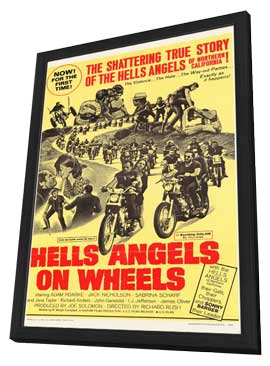 Hell's Angels on Wheels - 11 x 17 Movie Poster - Style D - in Deluxe Wood Frame