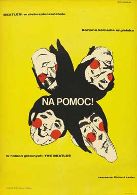Help! - 27 x 40 Movie Poster - Polish Style A