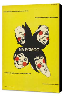 Help! - 27 x 40 Movie Poster - Polish Style A - Museum Wrapped Canvas