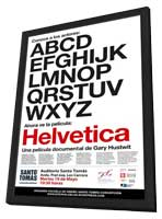 Helvetica - 11 x 17 Movie Poster - Spanish Style A - in Deluxe Wood Frame