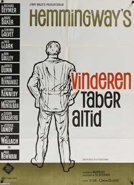 Hemingways Adventures of a Young Man - 27 x 40 Movie Poster - Danish Style A