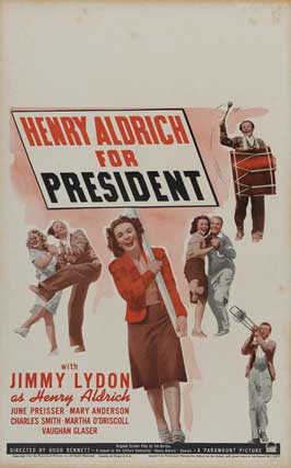 Henry Aldrich For President - 11 x 17 Movie Poster - Style B