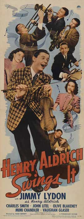 Henry Aldrich Swings It - 14 x 36 Movie Poster - Insert Style A