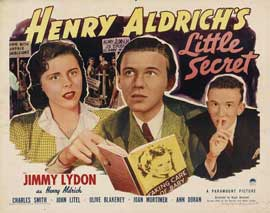 Henry Aldrich's Little Secret - 22 x 28 Movie Poster - Half Sheet Style A