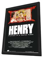 Henry: Portrait of a Serial Killer - 27 x 40 Movie Poster - Style B - in Deluxe Wood Frame
