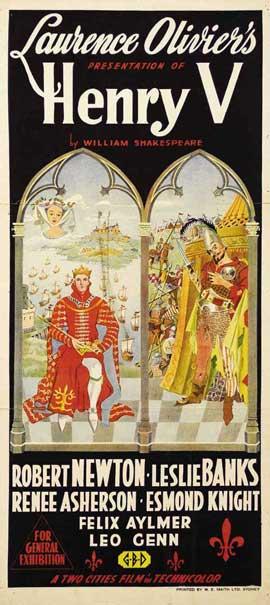 Henry V - 13 x 30 Movie Poster - Australian Style A