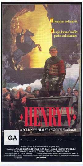 Henry V - 11 x 17 Movie Poster - Australian Style A