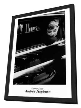 Audrey Hepburn - 27 x 40 Movie Poster - Style B - in Deluxe Wood Frame