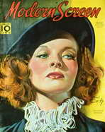Katharine Hepburn - 11 x 17 Modern Screen Magazine Cover 1940's