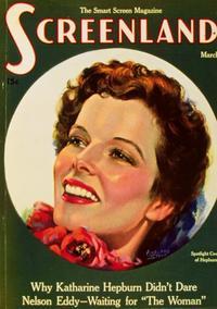 Katharine Hepburn - 11 x 17 Screenland Magazine Cover 1930's Style A