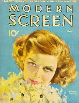 Katharine Hepburn - 11 x 17 Modern Screen Magazine Cover 1930's Style B
