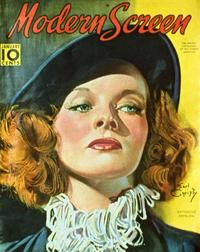 Katharine Hepburn - 27 x 40 Movie Poster - Modern Screen Magazine Cover 1940's
