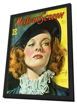 Katharine Hepburn - 11 x 17 Modern Screen Magazine Cover 1940's - in Deluxe Wood Frame