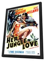 Her Jungle Love - 11 x 17 Movie Poster - Style A - in Deluxe Wood Frame