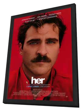 Her - 11 x 17 Movie Poster - Style A - in Deluxe Wood Frame