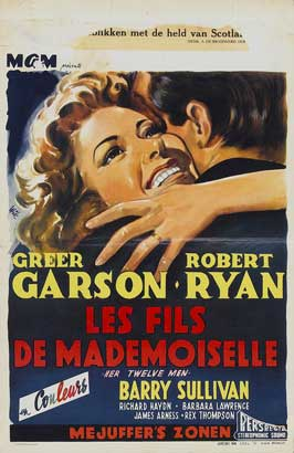 Her Twelve Men - 11 x 17 Movie Poster - Belgian Style A