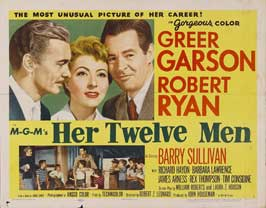 Her Twelve Men - 22 x 28 Movie Poster - Half Sheet Style A