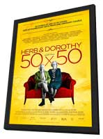 Herb & Dorothy 50x50 - 11 x 17 Movie Poster - Style A - in Deluxe Wood Frame