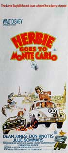 Herbie Goes to Monte Carlo - 13 x 30 Movie Poster - Australian Style B