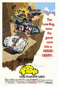 Herbie Goes to Monte Carlo - 11 x 17 Movie Poster - Style A - Museum Wrapped Canvas