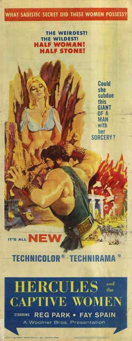 Hercules and the Captive Women - 14 x 36 Movie Poster - Insert Style A