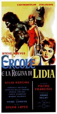 Hercules and the Queen of Lydia - 13 x 28 Movie Poster - Italian Style A