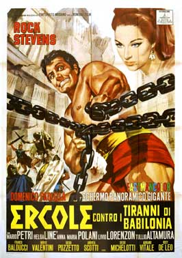 Hercules and the Tyrants of Babylon - 11 x 17 Movie Poster - Italian Style B