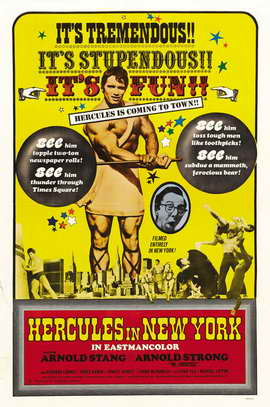 Hercules in New York - 27 x 40 Movie Poster - Style B