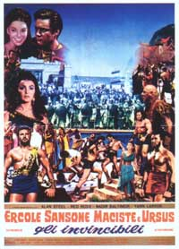 Hercules, Samson & Ulysses - 11 x 17 Movie Poster - Italian Style B