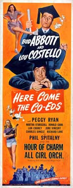 Here Come the Co-eds - 14 x 36 Movie Poster - Insert Style A