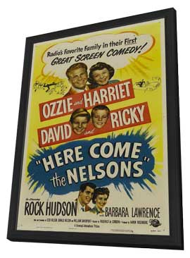 Here Come the Nelsons - 27 x 40 Movie Poster - Style A - in Deluxe Wood Frame