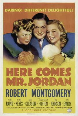 Here Comes Mr. Jordan - 11 x 17 Movie Poster - Style B