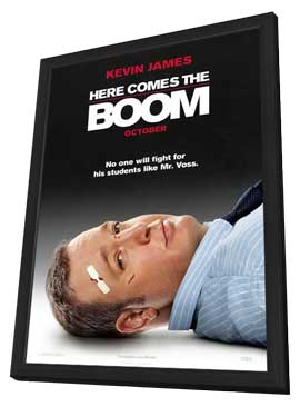 Here Comes the Boom - 27 x 40 Movie Poster - Style A - in Deluxe Wood Frame