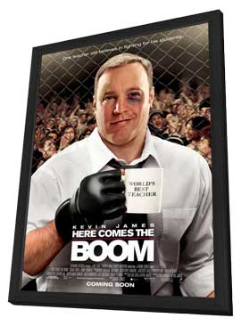 Here Comes the Boom - 27 x 40 Movie Poster - Style B - in Deluxe Wood Frame
