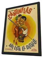 Here Is the Point - 11 x 17 Movie Poster - Mexican Style A - in Deluxe Wood Frame