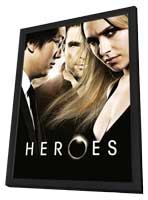 Heroes (TV) - 11 x 17 TV Poster - Style W - in Deluxe Wood Frame