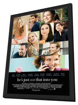 He's Just Not That Into You - 11 x 17 Movie Poster - Style B - in Deluxe Wood Frame