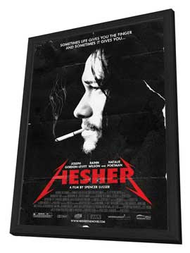 Hesher - 27 x 40 Movie Poster - Style A - in Deluxe Wood Frame