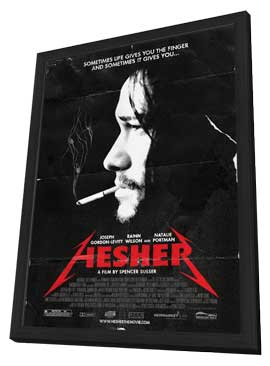 Hesher - 11 x 17 Movie Poster - Style A - in Deluxe Wood Frame
