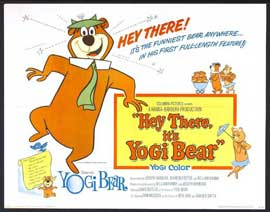 Hey There, It's Yogi Bear - 27 x 40 Movie Poster - Style C